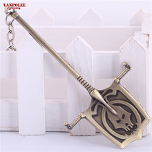 Buy 12cm Refined League Legends Gravediggers Yorick Weapon Treasure Rod LOL Metal Pendant Key Ring Keychain Wholesale Retail for $2.05 in AliExpress store