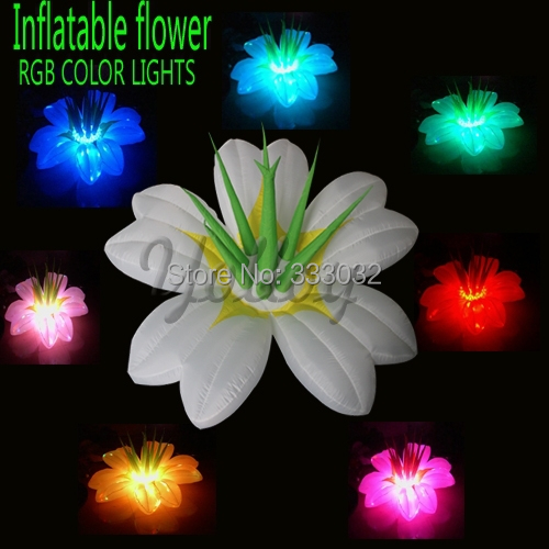 FREE SHIPPING 2014 HOT 2M diameter inflatable flower lily lights for Stage indoor outdoor decoration LED RGB lamp(China (Mainland))