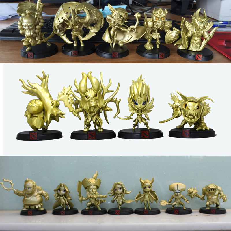 16styles Golden Dota 2 Global Official Limited Collection Game Action Figure Toys Boxed PVC Action Figures dota2 Toys()