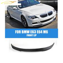 Buy E63 E64 Carbon Fiber Front Lip Spoiler BMW 6 Series E63 E64 M6 Bumper 2005-2011 front bumper lip Car Styling for $167.46 in AliExpress store