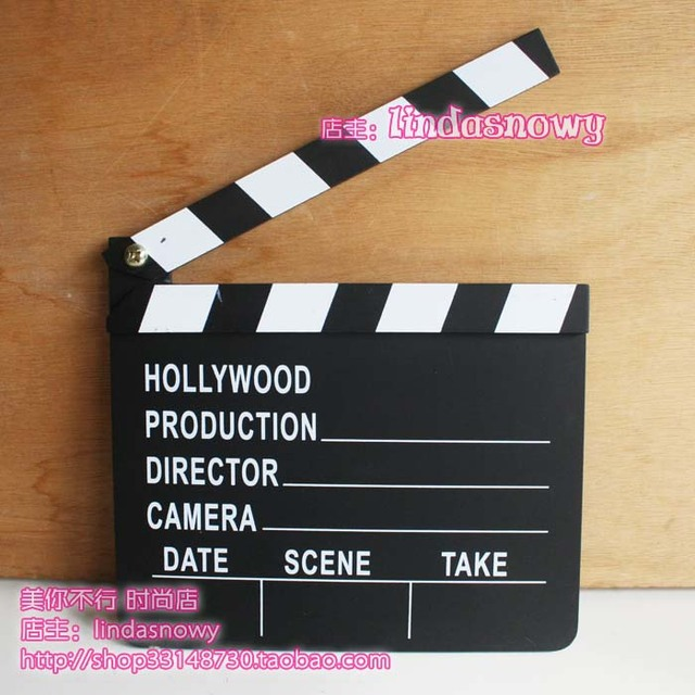 Child props photographic plate director board