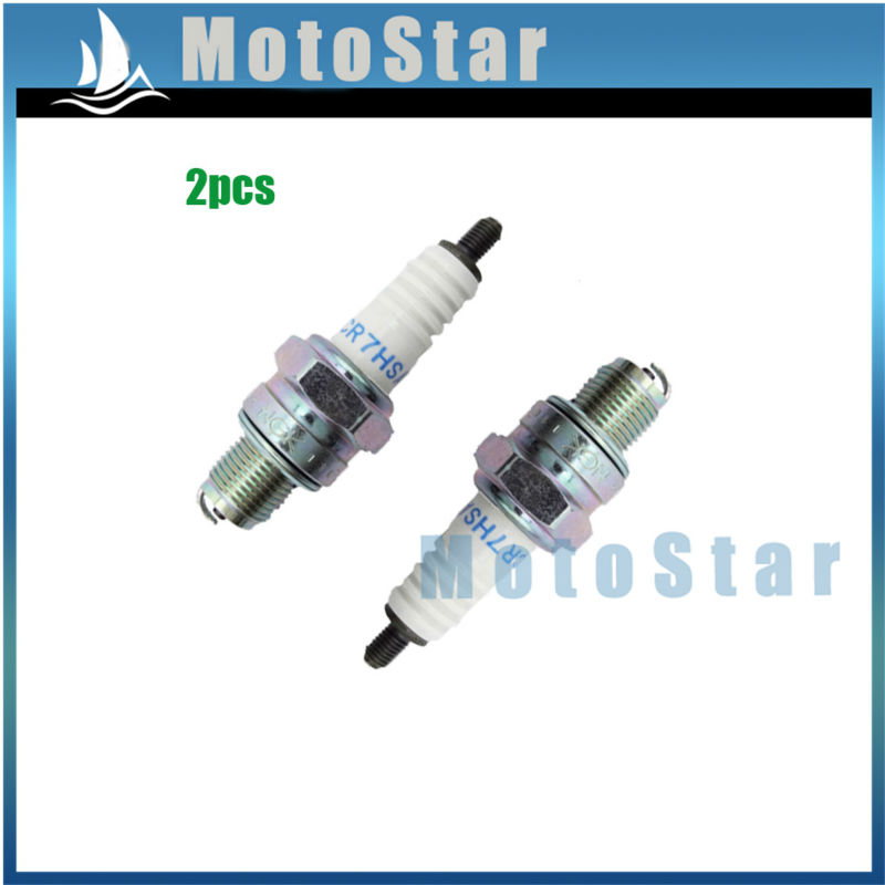 2x Resistor Ignition Spark Plug NGK CR7HSA For 70cc 90cc 110cc 125cc Engine ATV Pit Dirt Bike 50 125 150 cc Moped Scooter(China (Mainland))