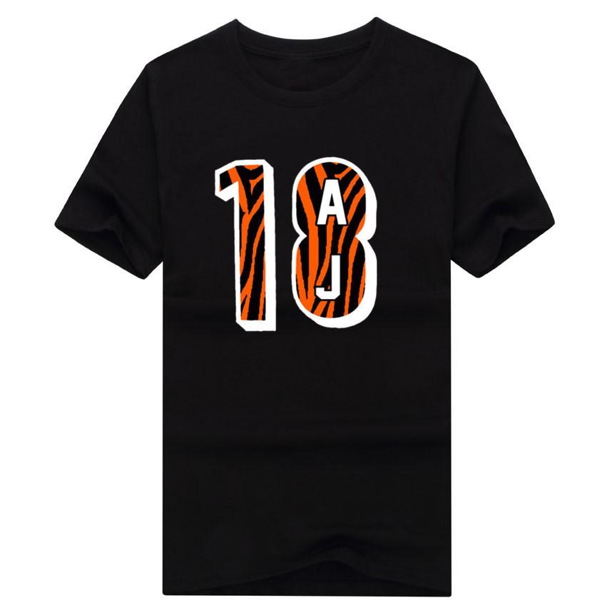Cool print 2017 AJ Green Cincinnati 18 logo T-shirt 100% cotton short sleeve o-neck T shirt 1020-2(China (Mainland))