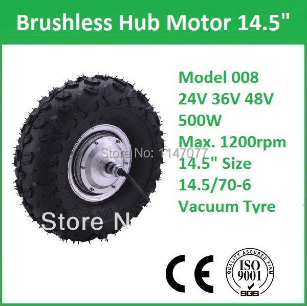 """14.5"""" high efficiency 36v 500w electric scooter motor kit(China (Mainland))"""