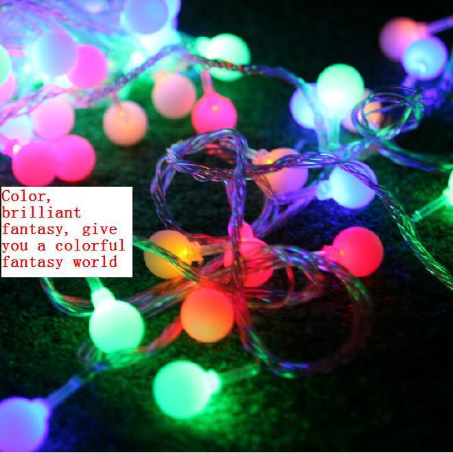 Decorative outdoor patio scene layout waterproof string lights flashing LED lights Cherry 10 m bead string(China (Mainland))