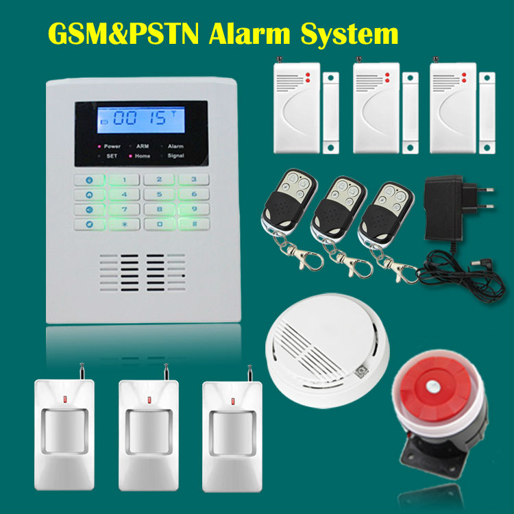 Фотография Free Shipping!101 zone 99 wireless zone and 2 wired Quad-Band LCD home security PSTN GSM alarm system 850/900/1800/1900MHZ