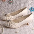 20 Colors Wedopus Large Size 10 Wedding Bride Shoes White Satin Low Heeled