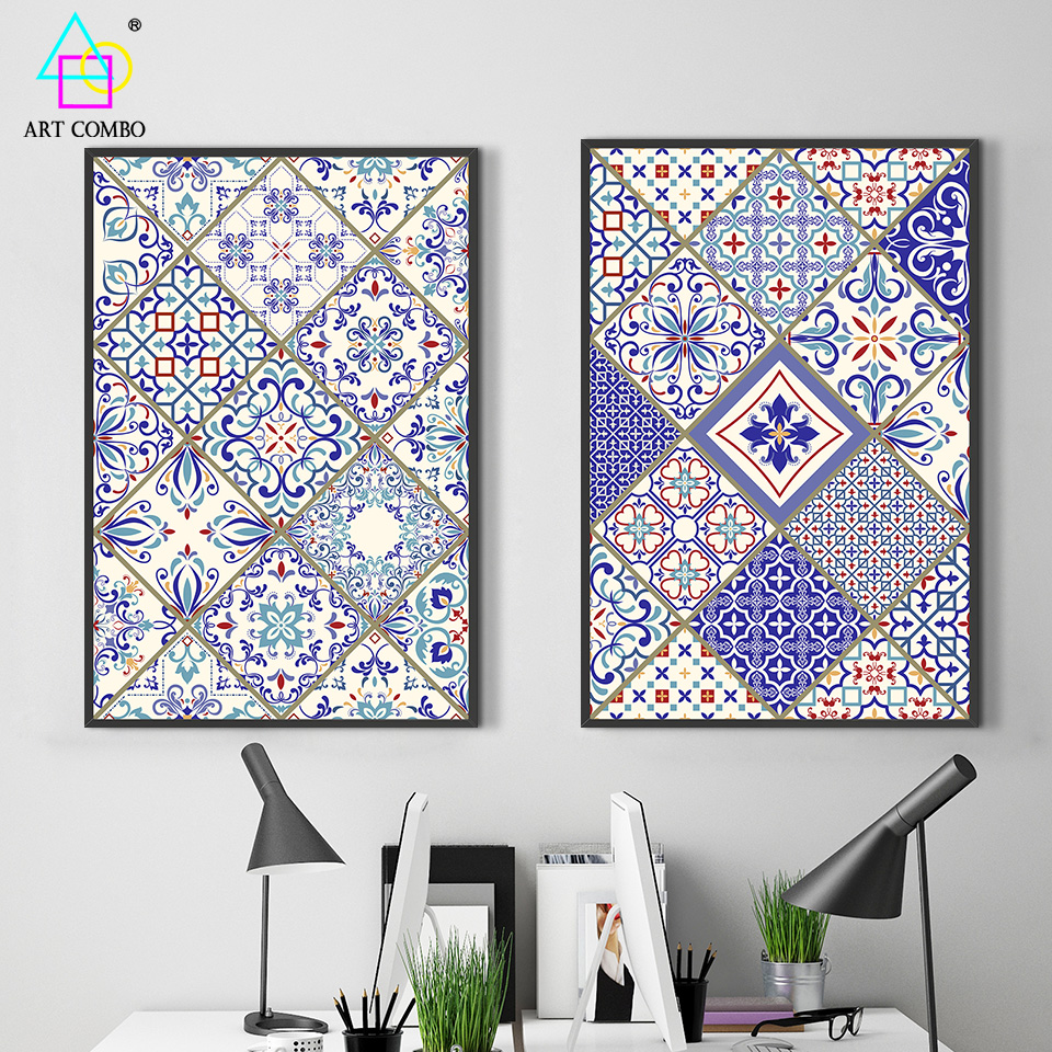 Creative Frameless Flower Decorative pattern Canvas Painting Wall Art Picture Home Decor for Living Room Posters ART COMBO KT024(China (Mainland))