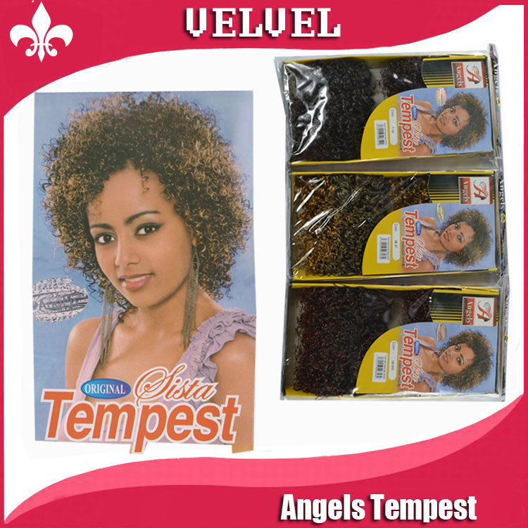 Angels Tempest accessories Each Two Tone Hair Weaves Min Curly Synthetic Hair Weaving Curly Hair Weav epostiches Mix Color(China (Mainland))