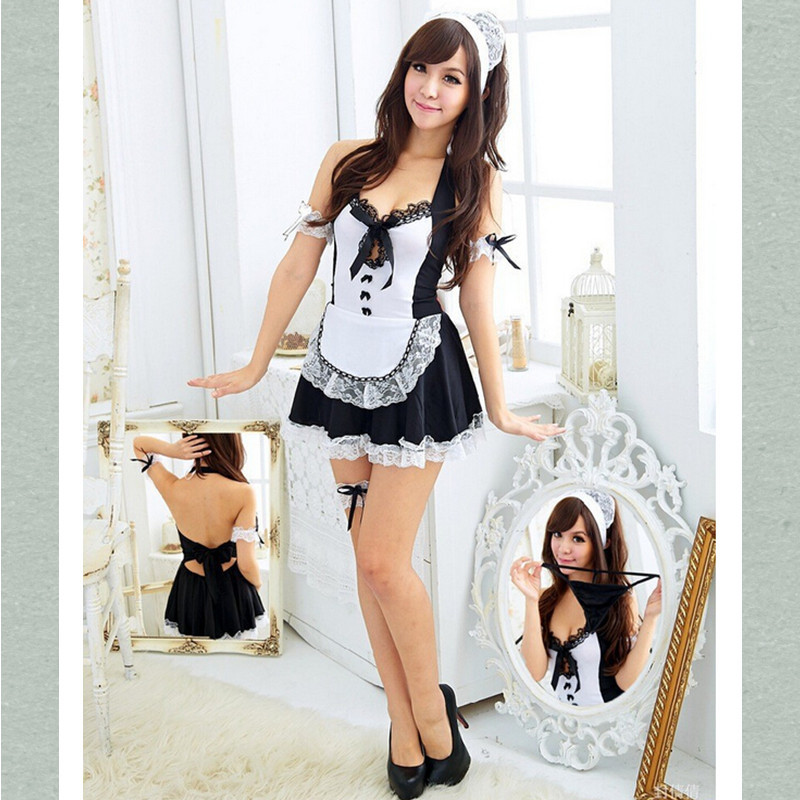 Sexy Costume For Women Erotic Maid Costumes Sexy Lingerie Maid Uniform Underwear Set Sexy(China (Mainland))