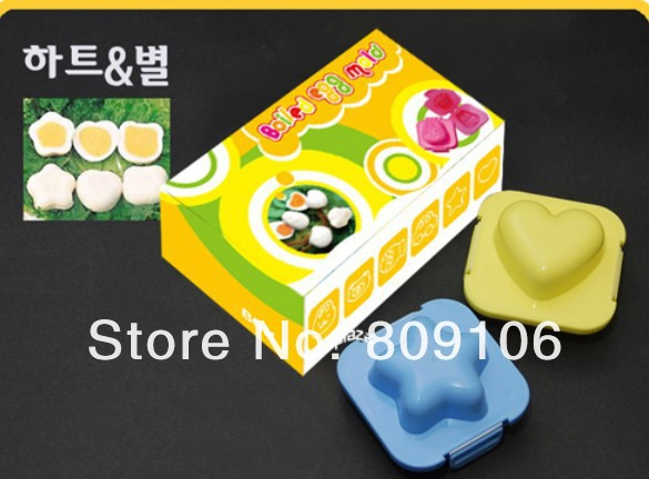 /retail,2pcs/set Sushi mould / onigiri mold /Egg mold/ ice cube tray ...