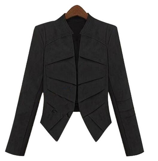 Новая мода осень женщин плюс размер замша кожа куртка повседневные длинные пальто и пиджаки 2 цвета scf114