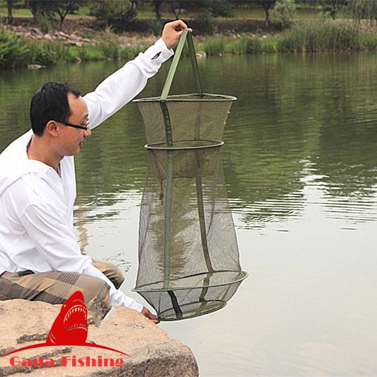 ловля рыбы китайской мини сетью