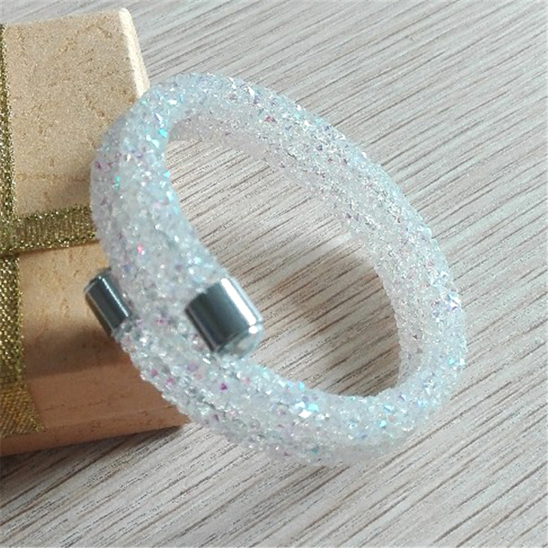 Christmas gifts crystal stardust double bracelet + free swan gift bag(China (Mainland))