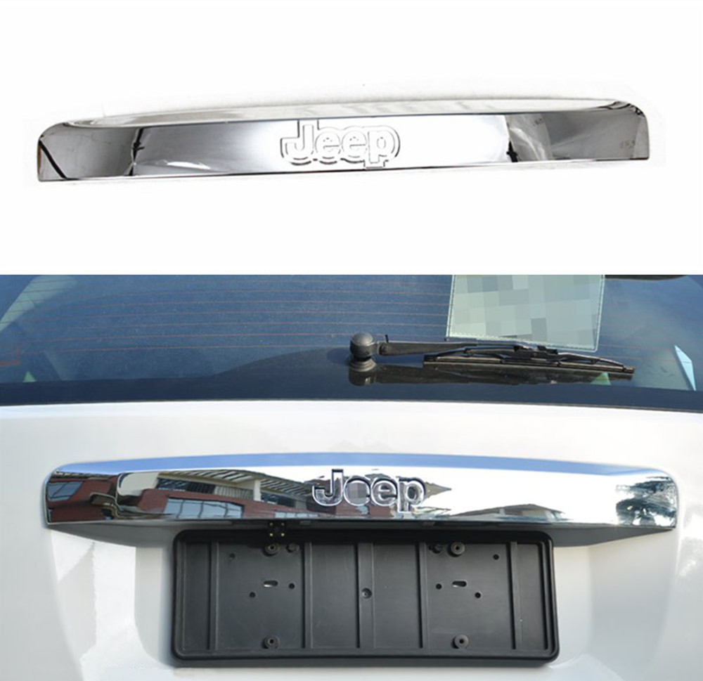 1 PC Chrome ABS Rear Licence Plate Guard Licence Panel Cover For Jeep Compass 2014-2015<br><br>Aliexpress