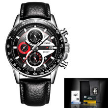 LIGE mode Quartz Sport montre hommes affaires pleine horloge en acier hommes montres haut de gamme marque de luxe étanche montre Relogio Masculino(China)
