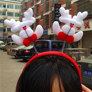 2014 New WL Fashion Lovely Christmas Hair Band Headband Christmas Props Xmas Decoration Gift LW(China (Mainland))