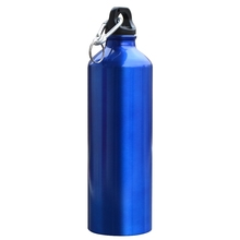 750ml Aluminum Alloy Sports My Water Bottle Camping Hiking Cycling Climbing Bicycle Drinkware Kettle With Carabiner Keychain(China (Mainland))