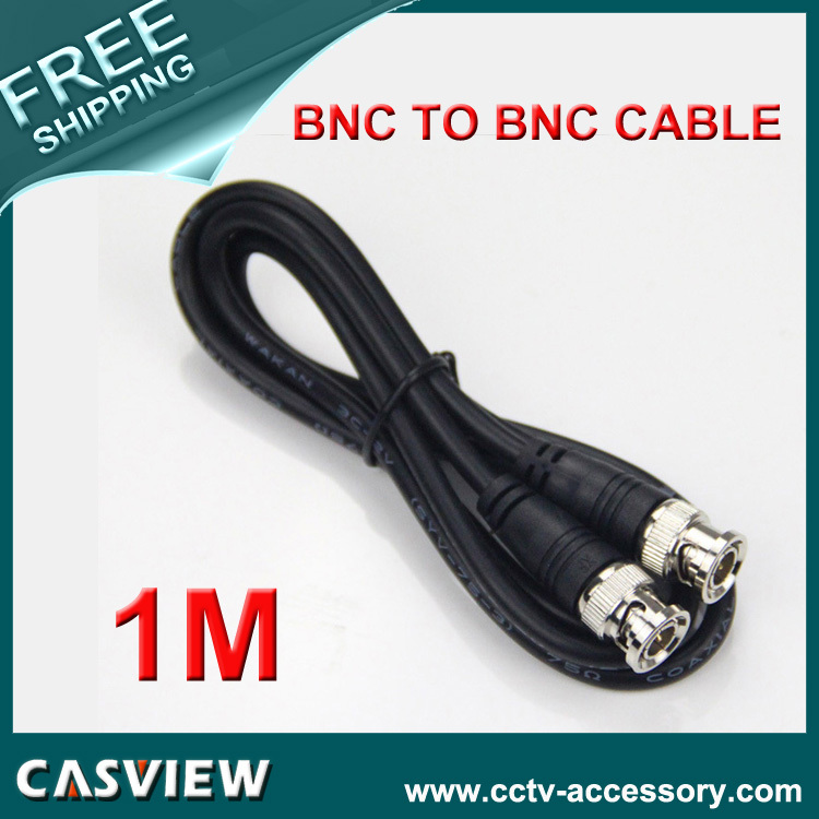 Free shipping 1PCS 1M(3ft) RG59 Coaxial extend Cable BNC male to BNC male for CCTV Camera 75 ohm Coaxial Cable(China (Mainland))