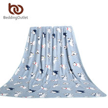 BeddingOutlet Bull Terrier Blanket Manta Para Sofa 2 Sizes Blanket Muli-Function Coral Fleece Blanket Limited Edition(China (Mainland))