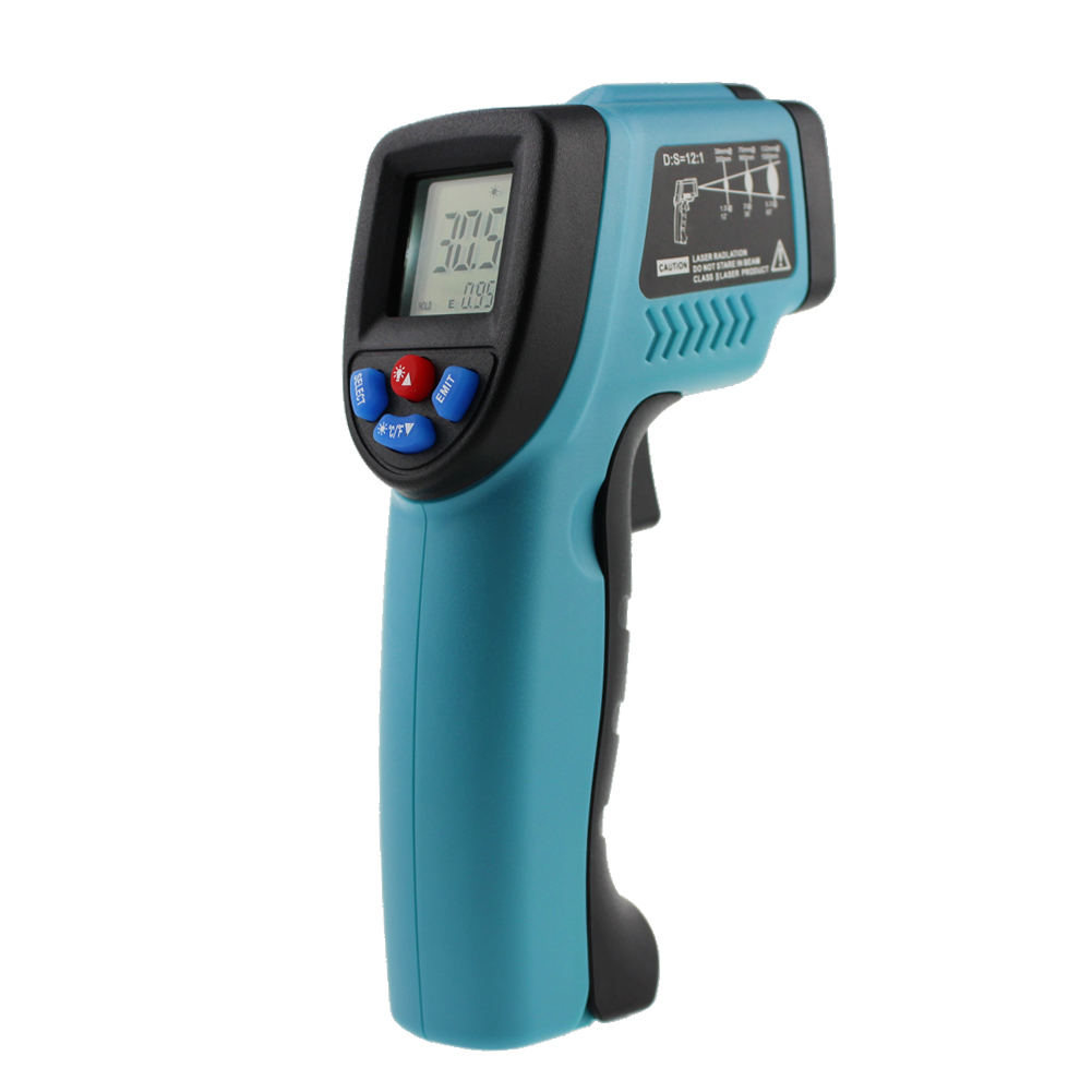 -50 to 550 Degree Non-Contact IR Infrared Digital Temperature Pyrometer Thermometer Laser Point Gun Auto Power Off Keeping Data(China (Mainland))