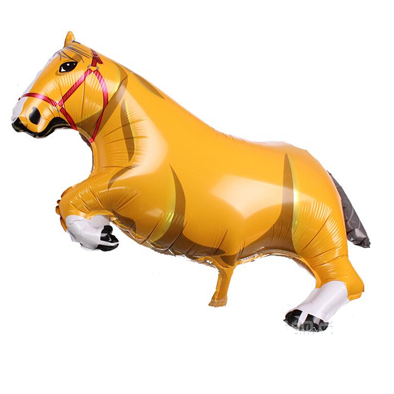 Free Shipping Big Yellow horse foil balloons Event party supplies Store Promotional classic toys wholesale with good quality(China (Mainland))