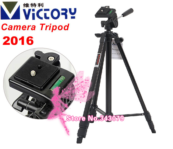Victory 2016 Professional Camera Tripod W/3-Way head for nikon SLR D600 D3200 D800 D7000 D90(China (Mainland))