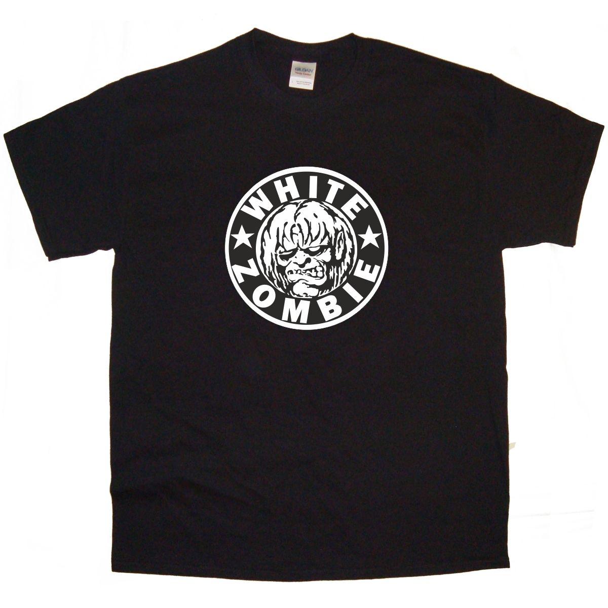 WHITE ZOMBIE Band logo Rock Thrash Black DEATH HEAVY METAL PUNK POP t shirt tee t cloth(China (Mainland))
