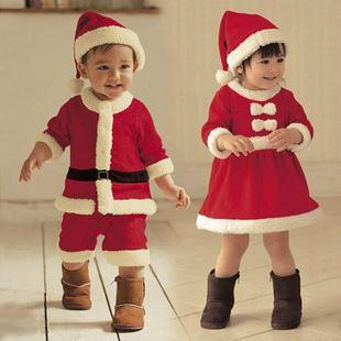 2013 New Fall Christmas dress Children clothing sets Boys Girls jumpsuits baby winter romper+Hat 2 pieces/set kid wear