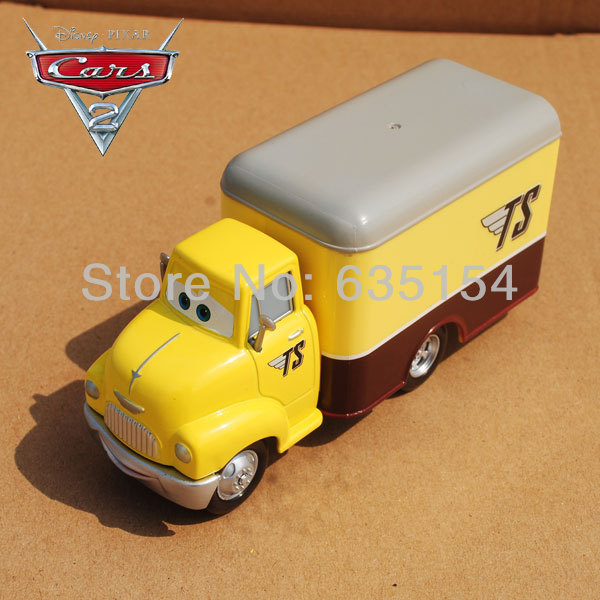 100% New Original 1/55 Scale Pixar Cars Toys Dustin Mellows Mega Deluxe Box Truck Diecast Metal Car Toy For Children Loose(China (Mainland))