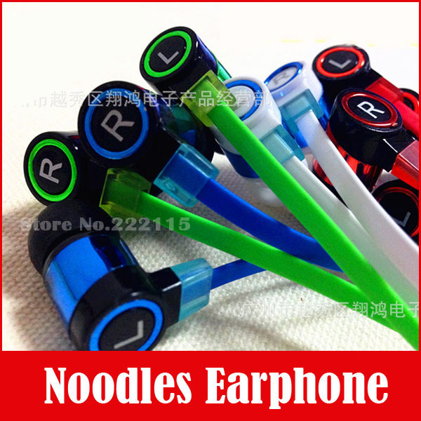 3 5mm In Ear Noodles Headset Earphone Headphone For Mp3 Iphone Samsung CellPhone Mobile Phone