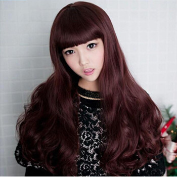 Free Shipping New Sexy Womens Long Synthetic Curly Hair  u Part Wig Top Quality <br><br>Aliexpress