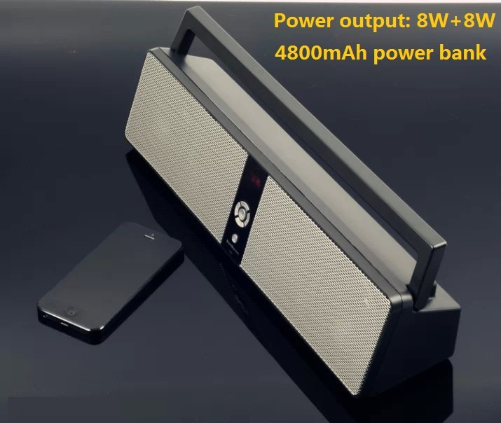 Powerful Portable HIFI Bluetooth speaker Wireless Boombox music player Stereo outdoor radio speaker support USB/TF/MP3/MP4(China (Mainland))