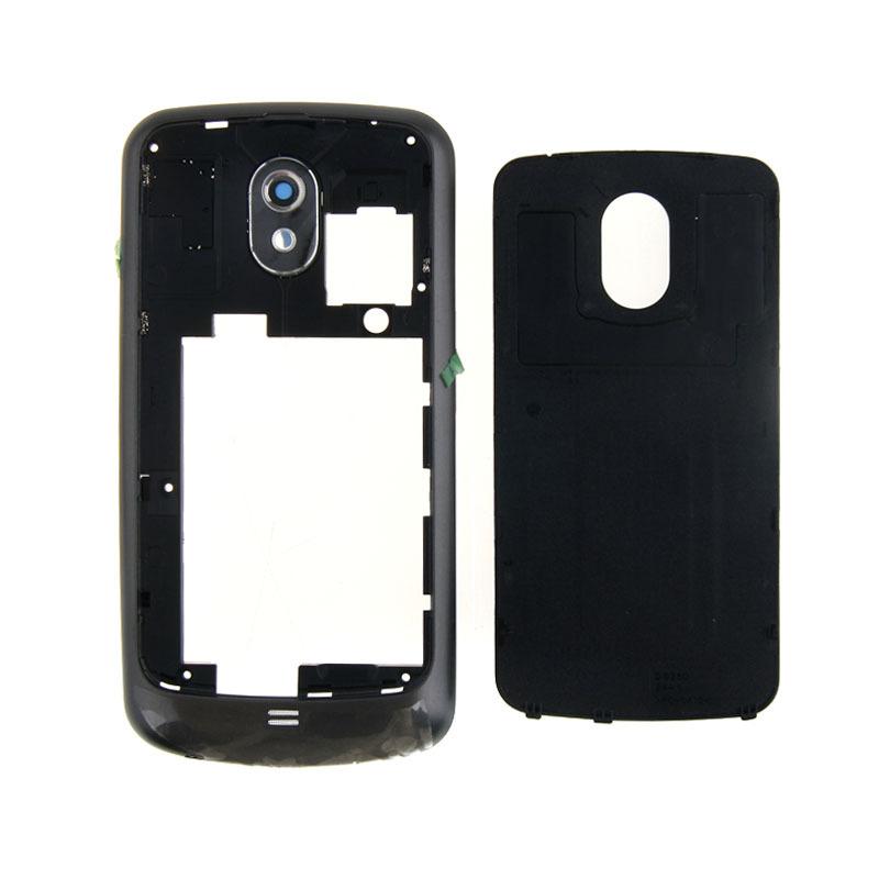Полный дело корпус с рамкой безе + кнопка назад Чехол для Samsung Галактика Nexus I9250 черный мешок 1pc/lot