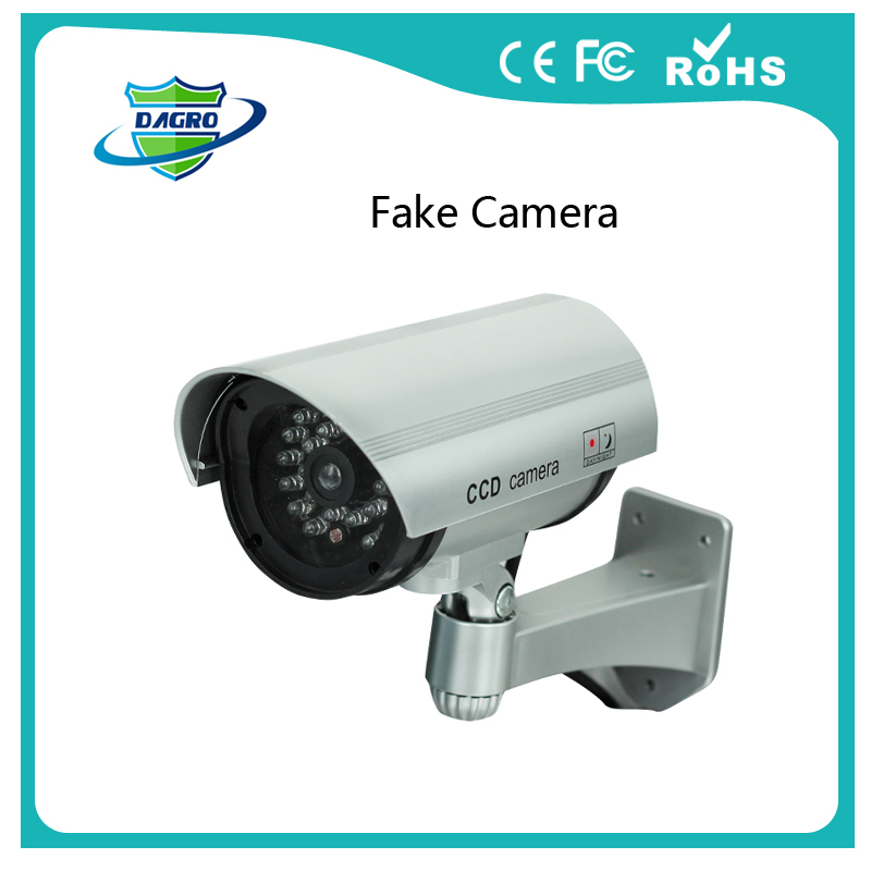 Fake camera Dummy Emulational camera cctv camera bullet waterproof outdoor use for home security with flash LED DY-106(China (Mainland))