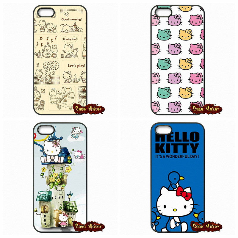 For Apple iPhone 4 4S 5 5C SE 6 6S Plus 4.7 5.5 iPod Touch 4 5 6 Cartoon Minnie Hello Kitty Cat Covers Case(China (Mainland))