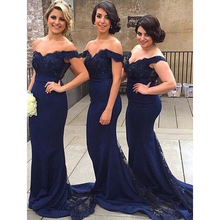Off the Shoulder Sheath Sexy Bridesmaid Dresses Lace Appliqued Wedding Party Dresses Made to Order(China (Mainland))