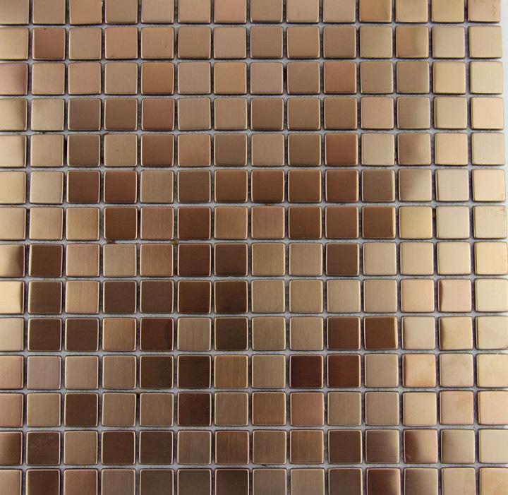 New fashion style rose gold metallic mosaic tile stainless for Tile fashion