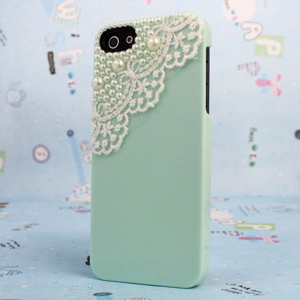 Good Sale Binmer Art Sex Lace Deco Bling Pearl Sweet Hard Case Cover For iPhone 5 5G 5th Free shipping & wholesale Jun 22(China (Mainland))