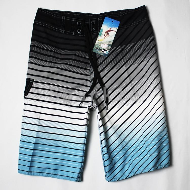 5xl mens short beachwear de marca shorts surf male stripe pattern Loose men's short,brand board surfing freeshipping  -  Summer Beach Fashion store