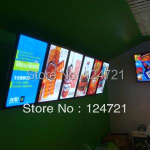 led lighted menu boards advertising aluminum a3 led restaurant light