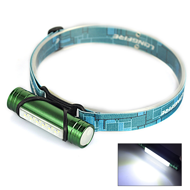 Green Ultra Bright Mini 6x LED Lamp Head light Torch Headlamp Zoomable Head Lamp Lantern Flashlight For Camping Hiking Treking(China (Mainland))