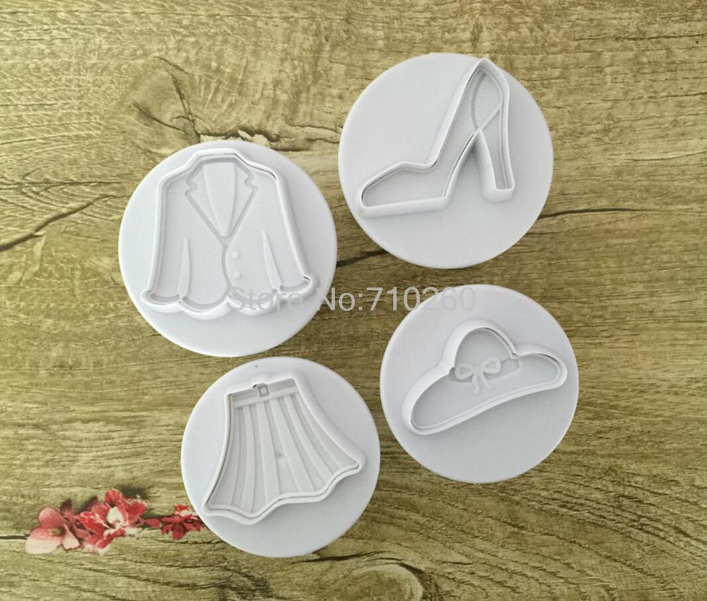 Homey Clothes skirt suit Fondant Biscuits Cutter Decorating Sugarcraft Gum Paste Tools Cupcake font b Kitchen