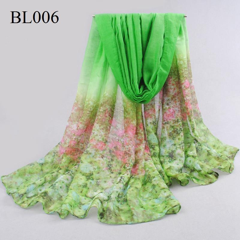 Fashion shivering flowers scarf women voile scarf Spring and Autumn casual shawl women's thin beach towel wholesale 180 * 95 CM(China (Mainland))