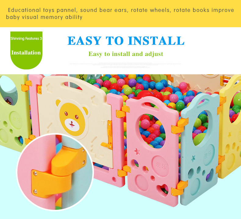 2016 Real Gas Stove Knob Baby Gate Door Stop Child Game Fence Baby Crawling Toddlers Guardrail Ball Pool Toy Inflatable Toys