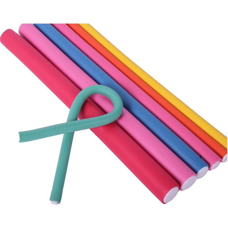 New Design 30Pcs/Lot Hair Curler Magic Rollers Bendy Soft Curler Makers Soft Foam Bendy Twist Curls Tool DIY Styling Hair Roller(China (Mainland))