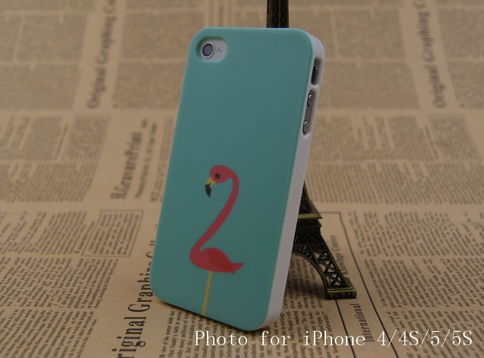 Flamingo Style White Sides Hard Plastic Back Cover Case for iPhone SE 6S/6/5/5S/4/4S High Quality Fashion Bird Animal Case Gift