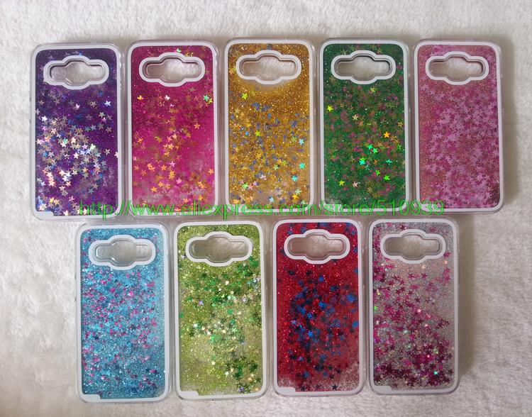 Clear Glitter Stars Dynamic Water Liquid Case for Samsung Galaxy Core Prime G360 G360H G3606 G3608 Plastic Cover Phone cases(China (Mainland))