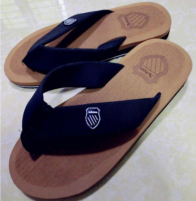 New 2015 Men Sandals Brand Leisure Casual Flat Men Burst Shall Pinch Sandals Soft Summer Flip Flops EVA Massage Beach Slipper(China (Mainland))