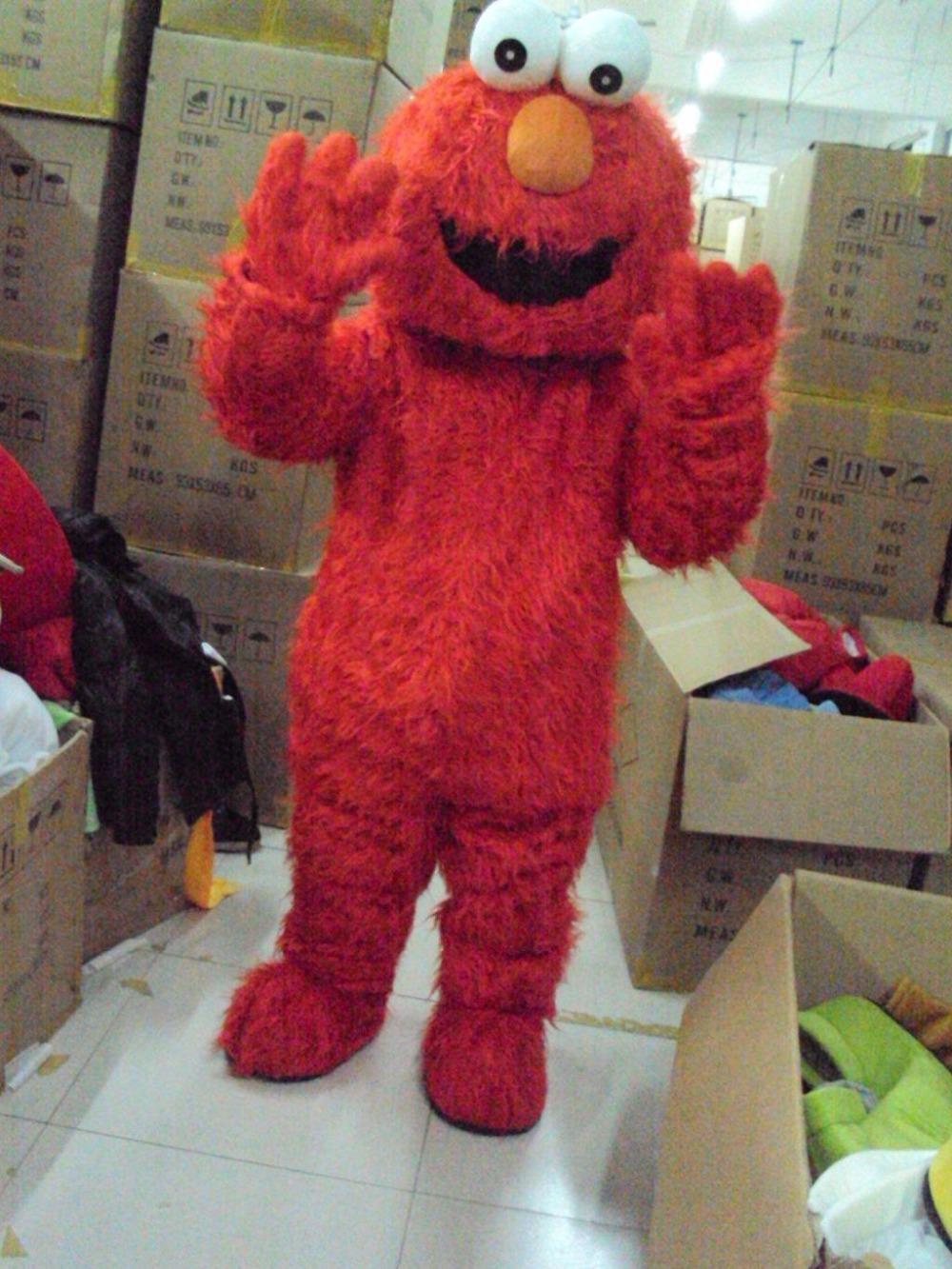 Hot sale Sesame Street mascot costume Elmo for adult Halloween cartoon Costume freeshipping(China (Mainland))